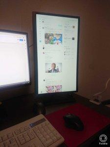 縦に出来るディスプレイを使ってみたら、チャット&SNSが超見やすい!のサムネイル画像