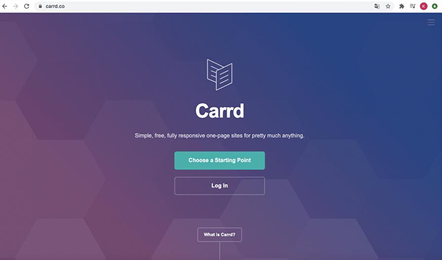 carrd.coトップページ